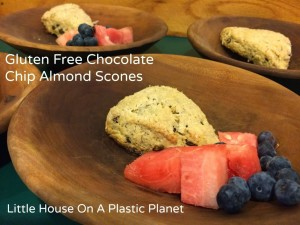 Gluten Free Chocolate Chip Almond Scones