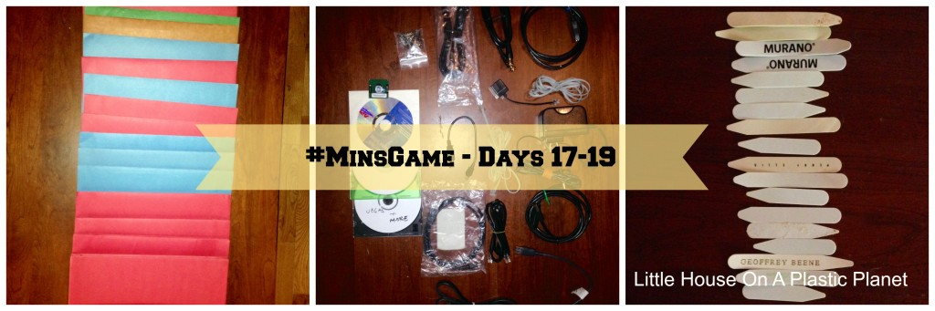 The Minimalist Game - Days 17-19 Boys